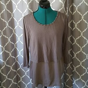 BKE Boutique 3/4 sleeve top